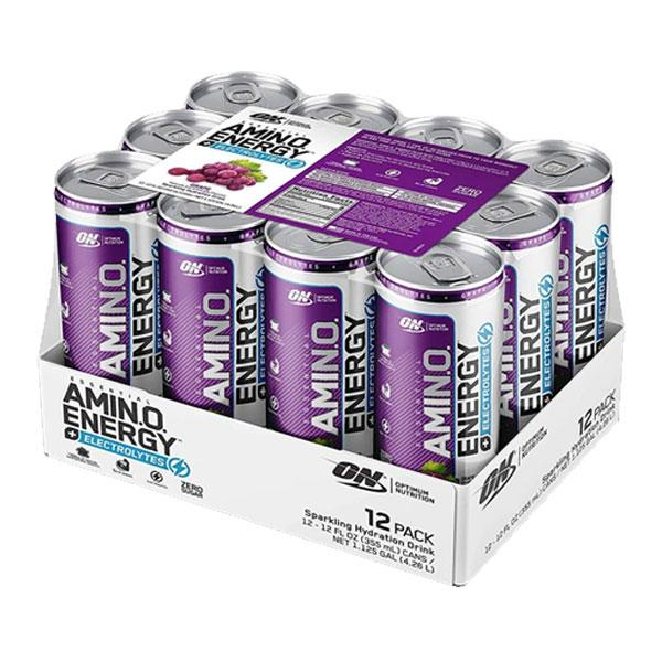 Amino Energy + Electrolytes Sparkling RTD (12 Pack) by Optimum Nutrition