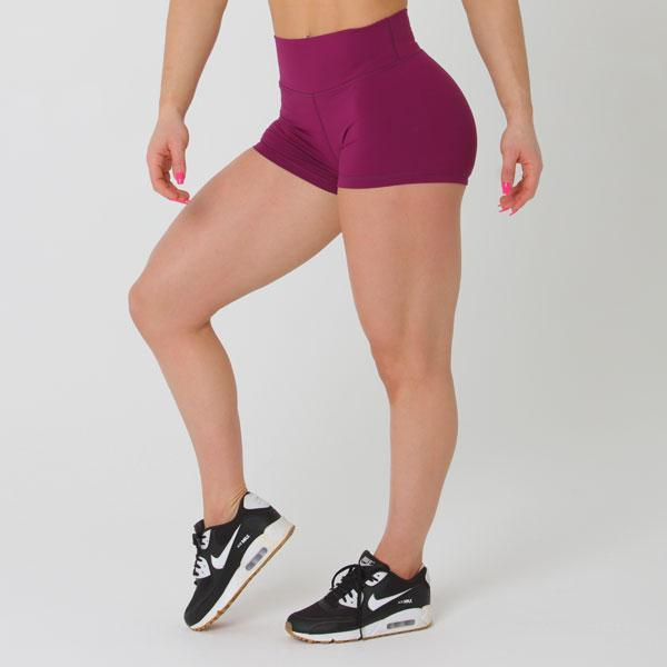 Scrunch Booty Shorts - Plum by Obsessed Gymwear