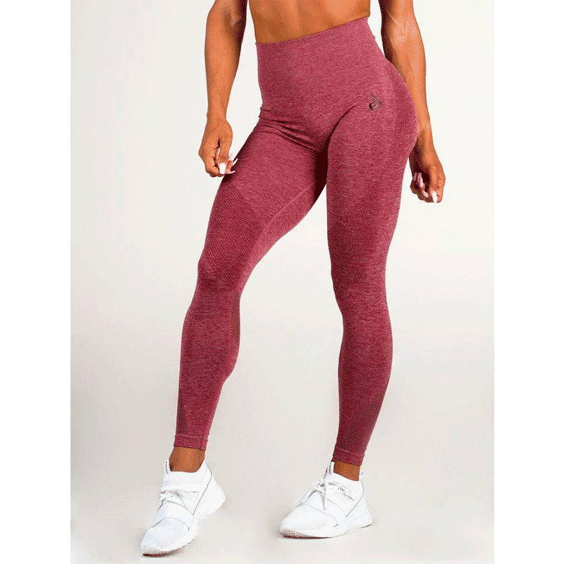Seamless Tights - Burgundy Marl by Ryderwear