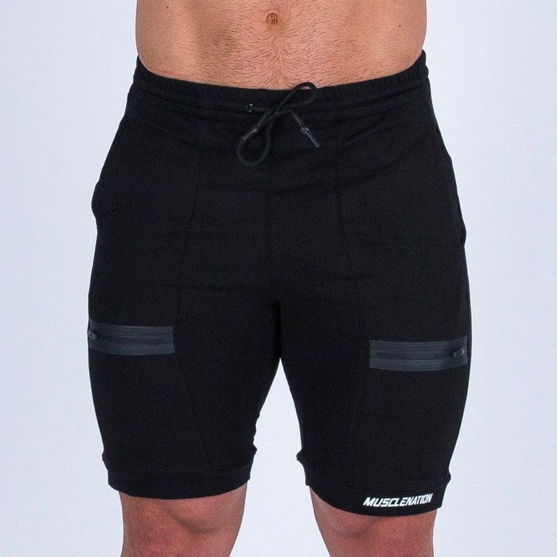 V2 Tapered Training Shorts - Black by Muscle Nation