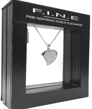 Fine Global Pendant 925 Sterling Silver Pendant with Cubic Zirconia – Romantic Gift, F.I.N.E, LOVE 4897069900701 sterling 925 silver jewellery