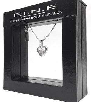 Fine Global Pendant 925 Sterling Silver Pendant with Cubic Zirconia - Double Heart Shape, F.I.N.E Love 4897069900602 sterling 925 silver jewellery