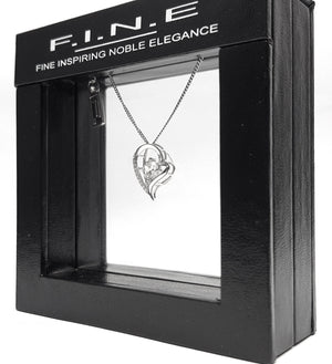 Fine Global Pendant 925 Sterling Silver Pendant with Cubic Zirconia for Extra Love, F.I.N.E Love 4897069900800 sterling 925 silver jewellery