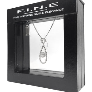 Fine Global Pendant 925 Sterling Silver Pendant with Cubic Zirconia for Extra Occasions, F.I.N.E Hope 4897069900817 sterling 925 silver jewellery