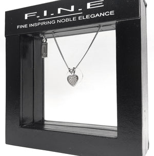 Fine Global Pendant 925 Sterling Silver Pendant with Cubic Zirconia- Heart Shape, F.I.N.E, Love 4897069900763 sterling 925 silver jewellery