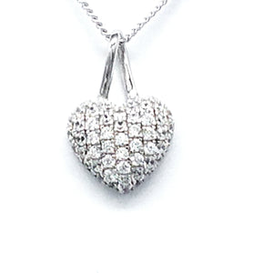 Fine Global Pendant 925 Sterling Silver Pendant With Zirconia - Make Everyone Envy You, F.I.N.E Love 4897069900343 sterling 925 silver jewellery