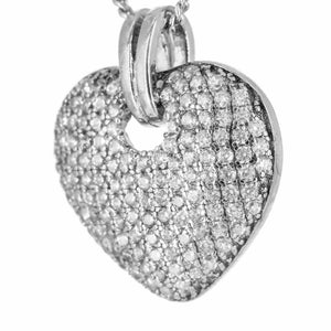 Fine Global Pendant 925 Sterling Silver Pendant With Cubic Zirconia – Fun & Flirty, F.I.N.E, LOVE 4897069900374 sterling 925 silver jewellery