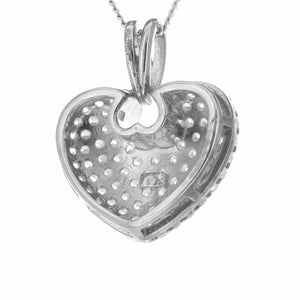 Fine Global Pendant Bold Love Heart Pendant with Cubic Zirconia, F.I.N.E LOVE 4897069900336 sterling 925 silver jewellery