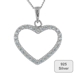 Fine Global Pendant 925 Sterling Silver Pendant With Cubic Zirconia – Gift for Girls and Women, F.I.N.E, Love 4897069900077 sterling 925 silver jewellery
