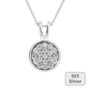 Fine Global Pendant Circle Pendant with Cubic Zirconia,  F.I.N.E UNITY 4897069900756 sterling 925 silver jewellery