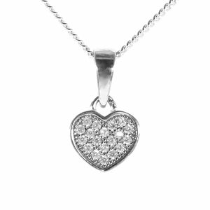 Fine Global Pendant Heart Shaped Pendant with Cubic Zirconia, F.I.N.E LOVE 4897069900046 sterling 925 silver jewellery