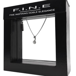 Fine Global Pendant Diamond Flower Pendant Necklace, F.I.N.E CARE 4897069900152 sterling 925 silver jewellery