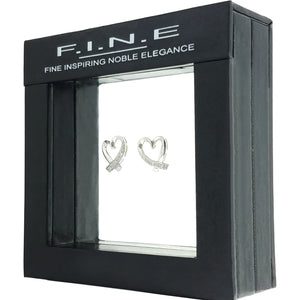 Fine Global Earrings Irresistible Heart Earrings with Diamonds, F.I.N.E LOVE 4897069900275 sterling 925 silver jewellery