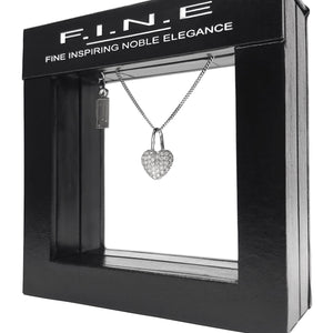 Fine Global Pendant Heart Shaped Silver Pendant With Zirconia,  F.I.N.E LOVE 4897069900343 sterling 925 silver jewellery