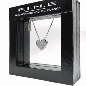 Fine Global Pendant With All My Heart Zirconia Pendant, F.I.N.E. INSPIRE 4897069900558 sterling 925 silver jewellery