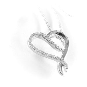 Fine Global Pendant 925 Sterling Silver Pendant with Cubic Zirconia for Special Occasion, F.I.N.E Love 4897069900596 sterling 925 silver jewellery