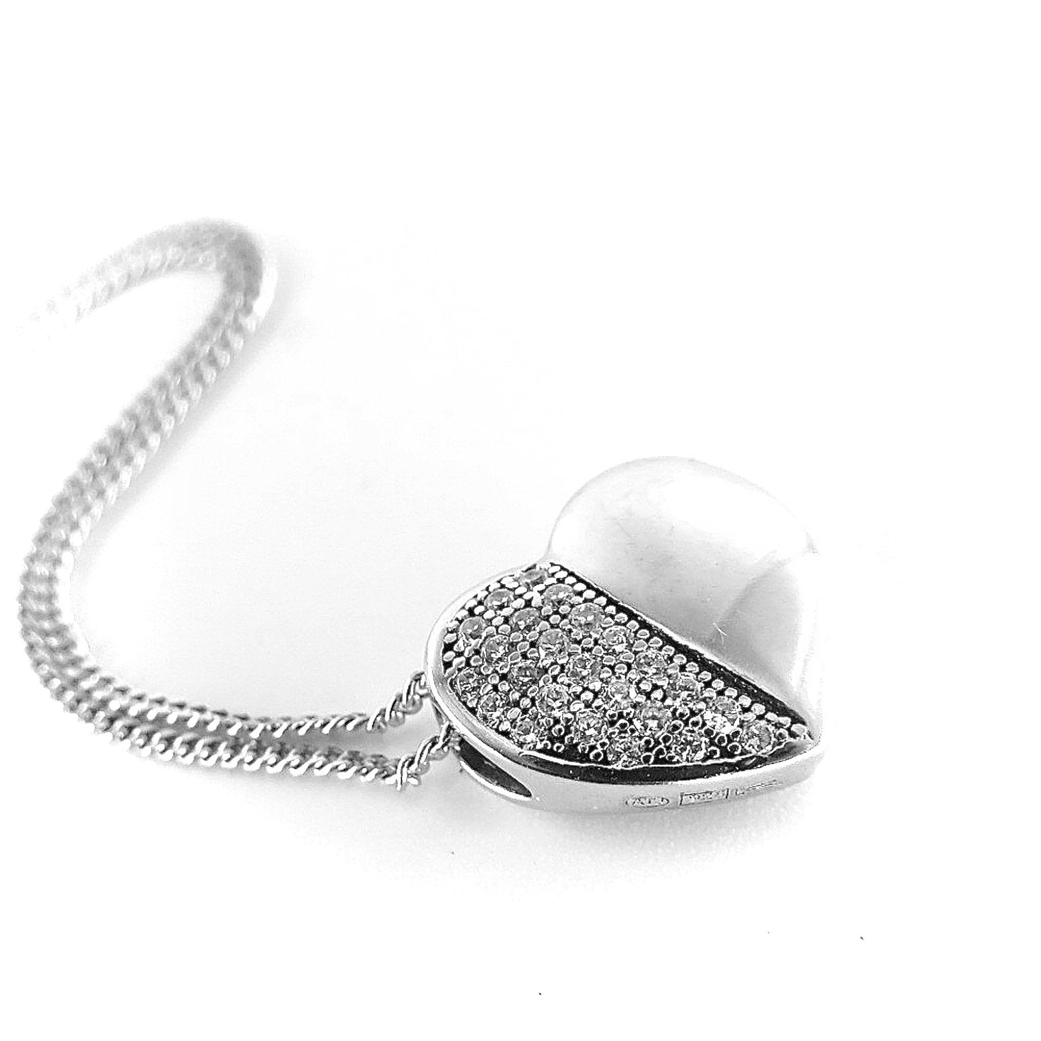 4112a34b1a8cc 925 Sterling Silver Pendant with Cubic Zirconia for a Great Charm, F.I.N.E  Love