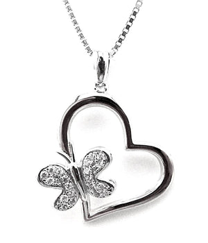 Fine Global Pendant 925 Sterling Silver Pendant with Cubic Zirconia for High Fashion, F.I.N.E Love 4897069900626 sterling 925 silver jewellery