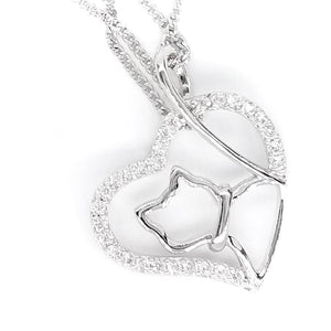 Fine Global Pendant 925 Sterling Silver Pendant with Cubic Zirconia - Prevailing Fashion, F.I.N.E Love 4897069900633 sterling 925 silver jewellery