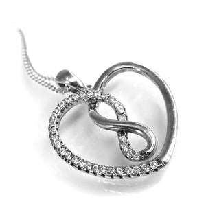 Fine Global Pendant F.I.N.E LOVE pendant, 925 silver with cubic zirkonia, 42+3 m silver chain 4897069900640 sterling 925 silver jewellery