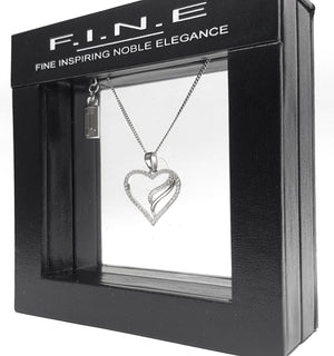 Fine Global Pendant 925 Sterling Silver Pendant with Cubic Zirconia- Impress Her, F.I.N.E, Love 4897069900725 sterling 925 silver jewellery