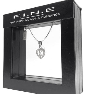 Fine Global Pendant 925 Sterling Silver Pendant with Cubic Zirconia - Love and Romantic Gift, F.I.N.E, Love 4897069900732 sterling 925 silver jewellery