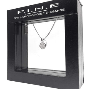 Fine Global Pendant 925 Sterling Silver Pendant with Cubic Zirconia - Circle Shape, F.I.N.E, Unity 4897069900756 sterling 925 silver jewellery