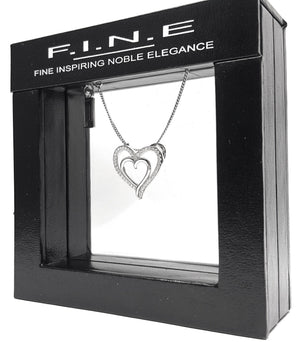 Fine Global Pendant 925 Sterling Silver Pendant With Cubic Zirconia- Love Gifts for Her, F.I.N.E Love 4897069900848 sterling 925 silver jewellery