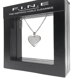 Fine Global Pendant Sterling Silver Pendant with Cubic Zirconia For Stylish Accessories, F.I.N.E LOVE 4897069900862 sterling 925 silver jewellery