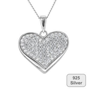 Fine Global Pendant Sterling Silver Pendant with Cubic Zirconia, F.I.N.E LOVE 4897069900862 sterling 925 silver jewellery