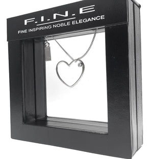 Fine Global Pendant 925 Sterling Silver Pendant with Cubic Zirconia – Show Your Love, F.I.N.E Love 4897069900947 sterling 925 silver jewellery