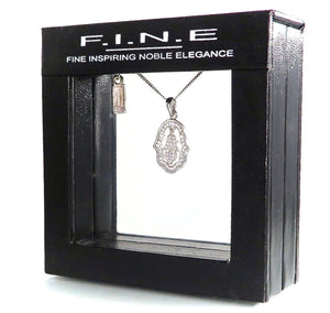 Fine Global Pendant Palm Shaped Pendant with Cubic Zirconia, F.I.N.E Inspire 4897069901081 sterling 925 silver jewellery