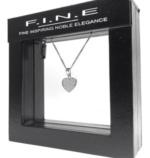 Fine Global Pendant 925 Sterling Silver Pendant With Cubic Zirconia – Gift for Someone You Love, F.I.N.E Love 4897069901098 sterling 925 silver jewellery
