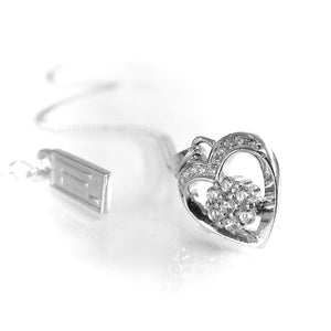 Fine Global Pendant 925 Sterling Silver Pendant With Cubic Zirconia for a Romantic Date, F.I.N.E, Love 4897069901159 sterling 925 silver jewellery