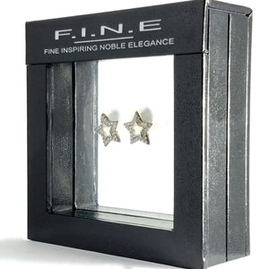 Noble Elegance Holding Ltd Earrings Twinkle Star Earrings With Cubic Zirconia, F.I.N.E COURAGE 4897069901210 sterling 925 silver jewellery