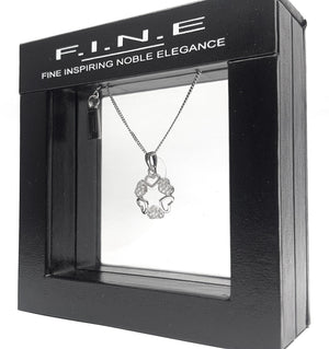 Fine Global Pendant 925 Sterling Silver Pendant With Cubic Zirconia – Touch of Shine, F.I.N.E, Love 4897069901289 sterling 925 silver jewellery