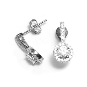 Fine Global Earrings 925 Sterling Silver Stud Earrings With Cubic Zirconia – Great Gift for Anyone, F.I.N.E, Unity 4897069901340 sterling 925 silver jewellery