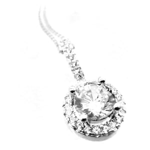 Fine Global Pendant F.I.N.E UNITY pendant, 925 silver with cubic zirconia, 42+3cm silver chain 4897069901357 sterling 925 silver jewellery