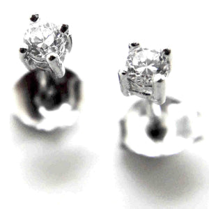 Fine Global Earrings Round Pavé Earrings With Cubic Zirconia, F.I.N.E UNITY 4897069901395 sterling 925 silver jewellery