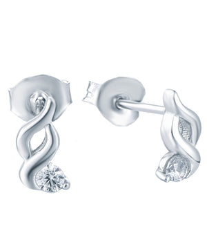 Fine Global Earrings 925 Sterling Silver Earrings with Cubic Zirconia, F.I.N.E, Friendship 4897069901425 sterling 925 silver jewellery