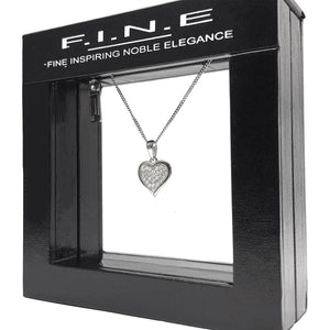 Fine Global Pendant Heart Shaped Pendant With Cubic Zirconia, F.I.N.E Love 4897069900855 sterling 925 silver jewellery