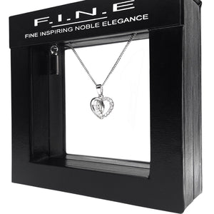 Fine Global Pendant Two Hearts Beat as One Pendant with Cubic Zirconia, F.I.N.E LOVE 4897069901685 sterling 925 silver jewellery