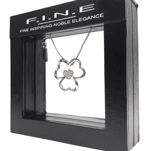 Fine Global Pendant Flower Pendant with Cubic Zirconia, F.I.N.E LOVE 4897069900749 sterling 925 silver jewellery