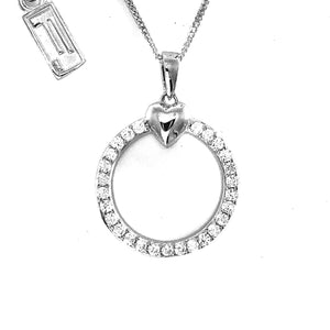 Fine Global Pendant 925 Sterling Silver Pendant with Cubic Zirconia - Never go out of fashion, F.I.N.E, Love 4897069901265 sterling 925 silver jewellery