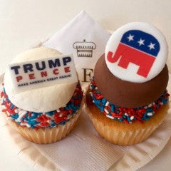 Sweet Election Cupcakes! Republican Party Themed Cupcakes!