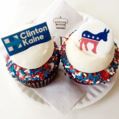 Sweet Election Cupcakes! Democratic Party Themed Cupcakes!