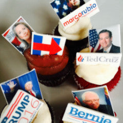 SWEET Front Runner Presidential Candidate Cupcakes! From $48