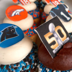 SWEET Super Bowl 50 Cupcakes! $48-$64