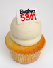 Marathon Bib Number cupcake *customized with your runner's number ~ please allow 48 hours notice