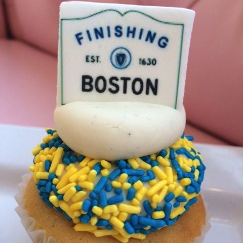 SWEET Finish! 2014 Boston Marathon Cupcakes!